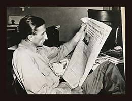 Raymond (Skeeter) Baxter Reading About His Arrest